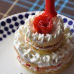 ホットケーキミックスで作る、1歳のバースデーケーキ・レシピ